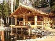Cтроительство  домов из оцилиндрованного и рубленного бревна